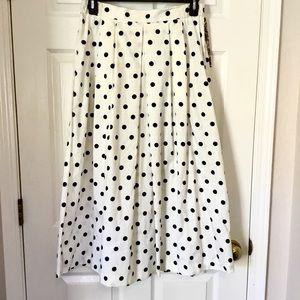 Vintage Laurel Ann polka dot maxi skirt